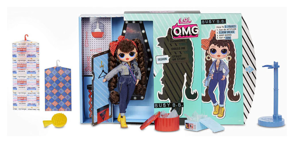 L.O.L. Surprise! O.M.G. Busy B.B. Fashion Doll with 20 Surprises