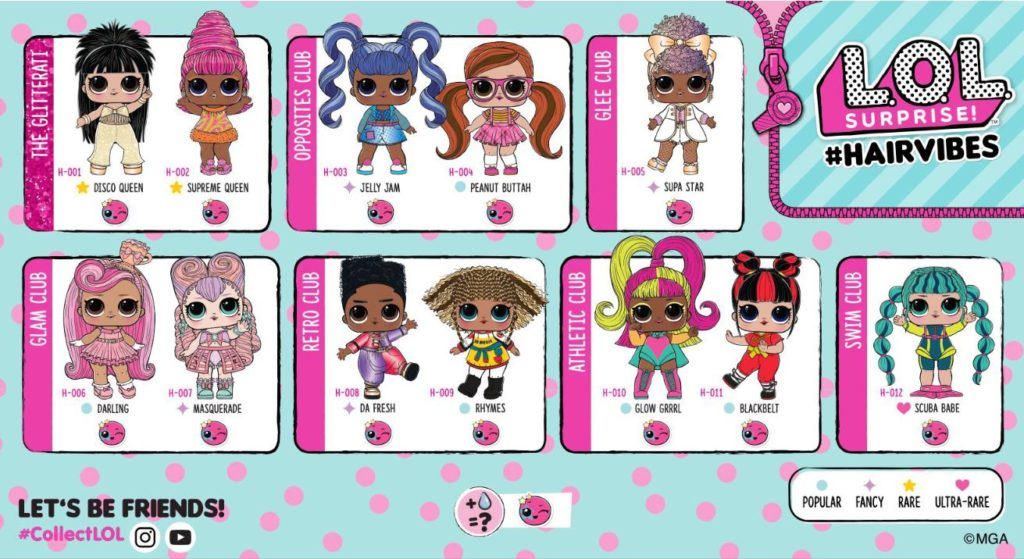 L.O.L. Surprise Hairvibes Dolls Names