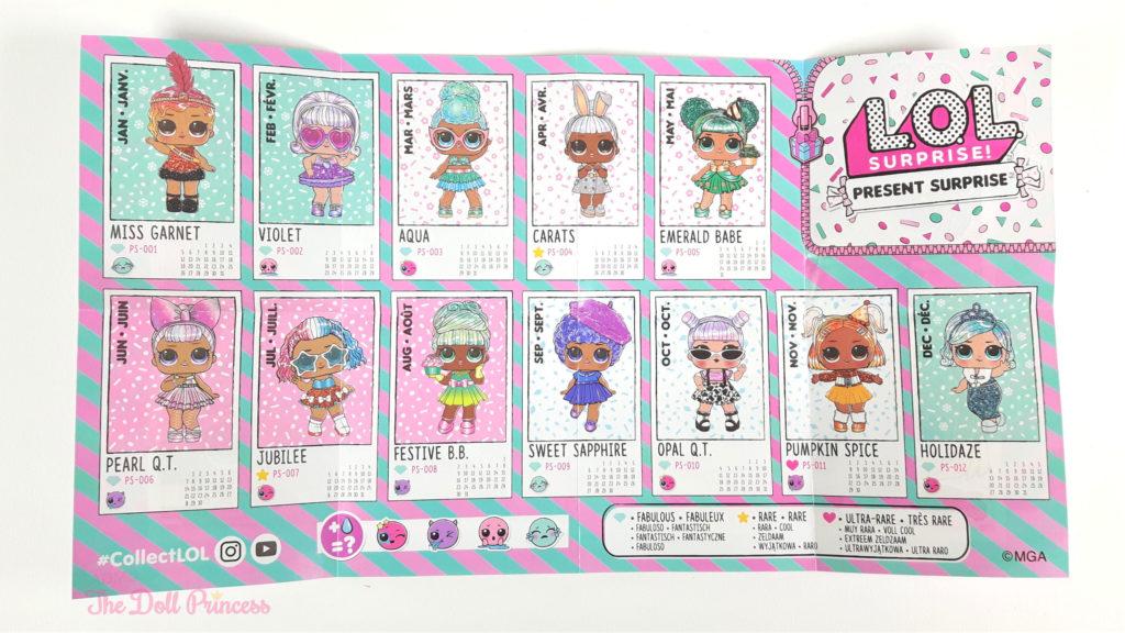 L.O.L. Surprise Present Surprise Dolls Checklist