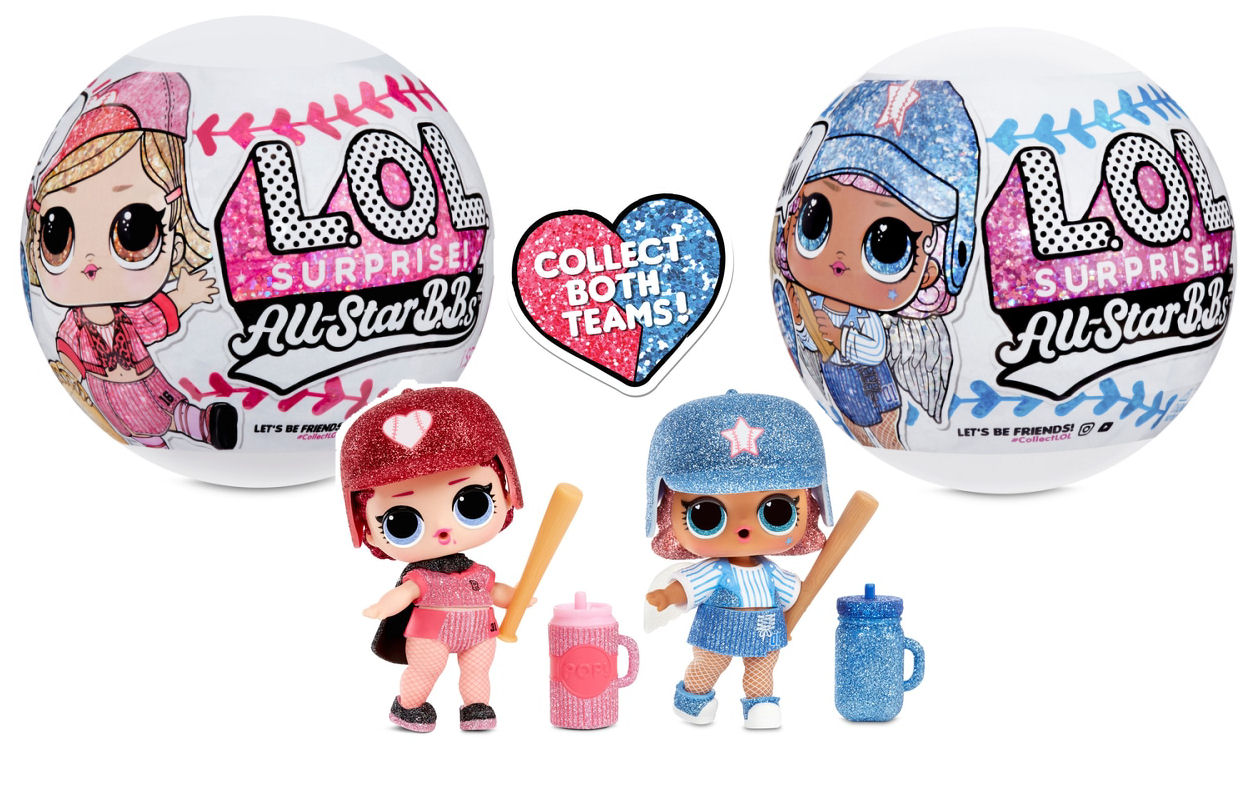 LOL Surprise Doll ALL-STAR BBs COUNTESS BABY Series 1 BASEBALL red TEAM GLITTER