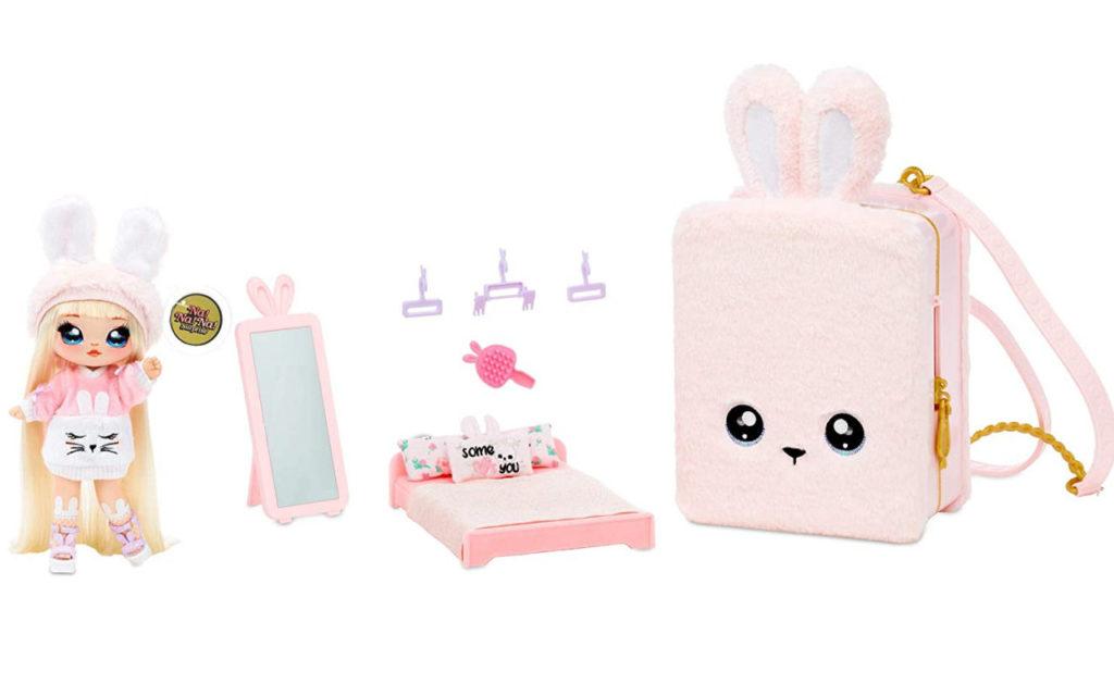 Na Na Na Surprise Backpack Bedroom Playset Pink