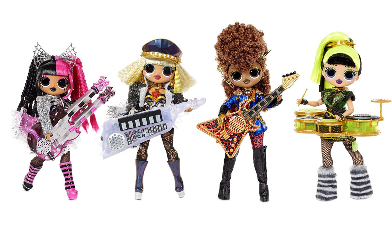 OMG Remix Super Surprise Rock Band 4 Fashion Dolls