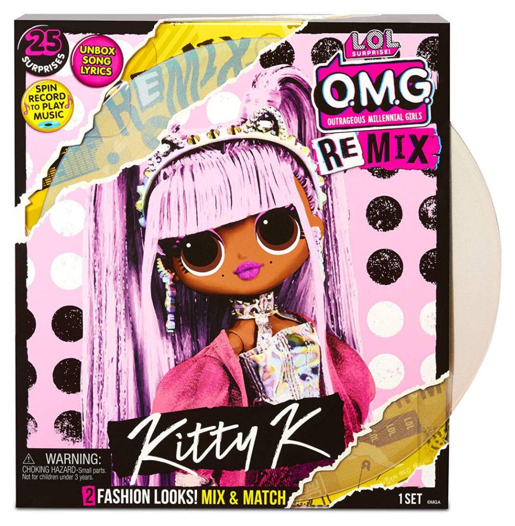 L.O.L Surprise! O.M.G. Remix Kitty K Fashion Doll Box Front Cover