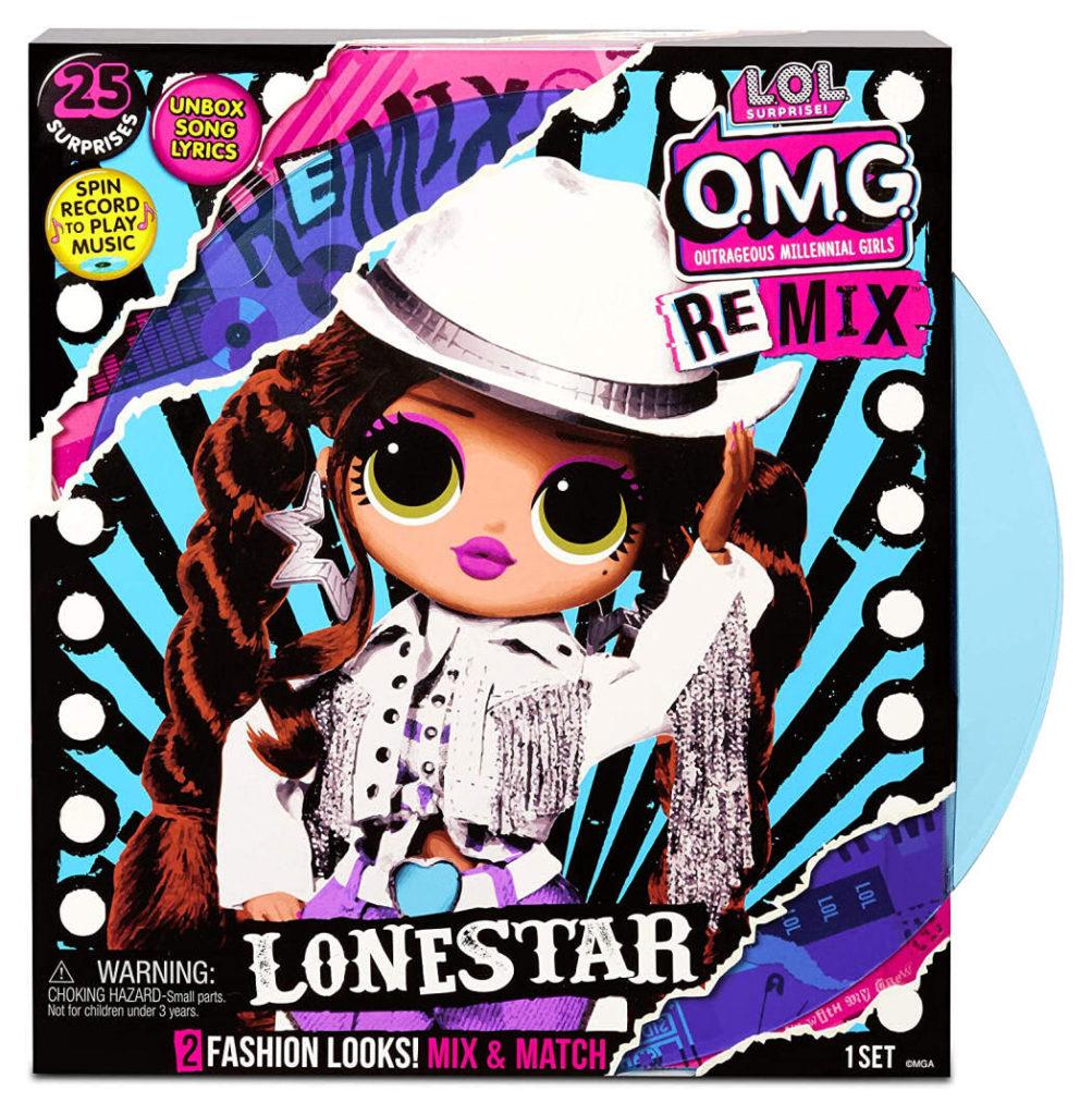 L.O.L Surprise! O.M.G. Remix Lonestar Fashion Doll Box Front Cover